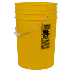 Yellow 6 Gallon HDPE Bucket