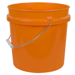 Orange 2 Gallon HDPE Bucket