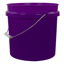 Purple 2 Gallon HDPE Bucket