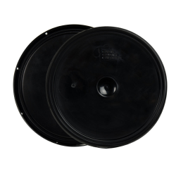 Black 2 Gallon Lid with Tear Tab
