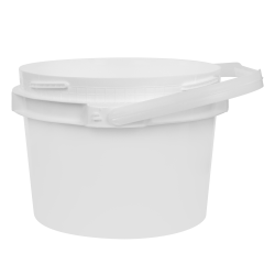 2 Gallon Lite Latch® White Bucket