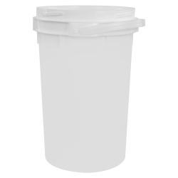 6.5 Gallon Lite Latch® White Bucket