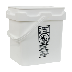 4 Gallon Super Kube White Pail with Handle