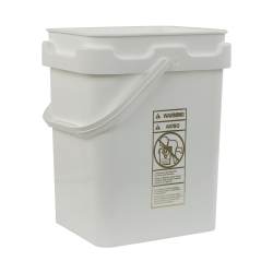 5 Gallon Super Kube White Pail with Handle