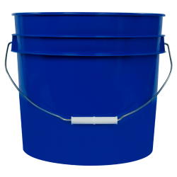 Blue 3.5 Gallon HDPE Bucket