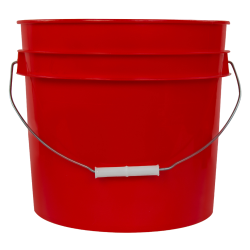 Red 3.5 Gallon HDPE Bucket