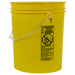 Standard Yellow 5 Gallon Bucket
