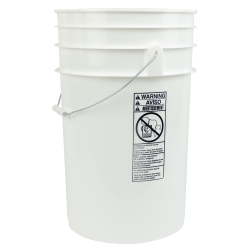White 6-1/2 Gallon Bucket