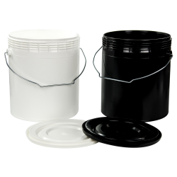 1 Gallon Rim-Less Round Pails & Lids