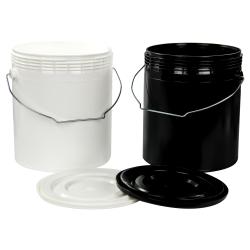 Letica® 1 Gallon Rim-Less Round Pails & Lids
