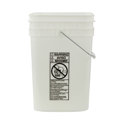 4-1/4 Gallon Natural HDPE Square Bucket (Lid Sold Separately)