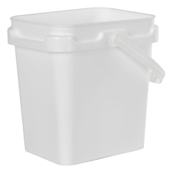1 Gallon Super Kube White Pail with Handle
