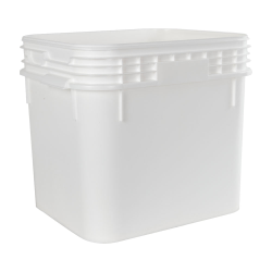 9 Gallon Super Kube White Pail without Handle