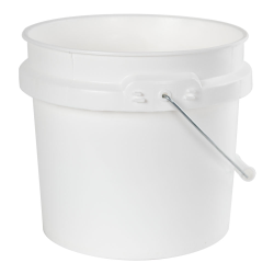 1 Gallon White HDPE Pail with Handle