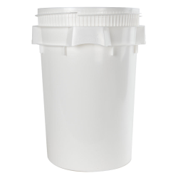 Lite Latch® White 10.7 Gallon Plastic Drum