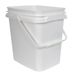 2 Gallon/8 Liter InPack Polypropylene Rectangular Pail with Handle