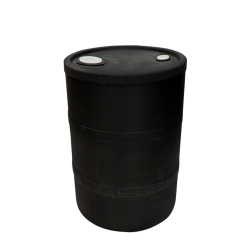 "15 Gallon Black Closed Head Drum 15.75"" Dia x 22.5"" H"