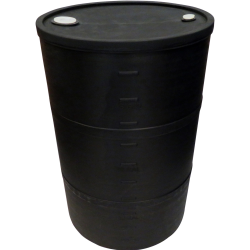 "55 Gallon Black Closed Head Drum 23.25"" Dia. x 35"" H"