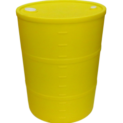 "55 Gallon Yellow Closed Head Drum 23.25"" Dia. x 35"" H"