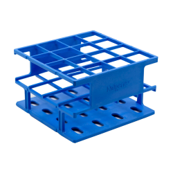Blue 25 mm Tube Size  122 x 122 x 75  Array is 4 x 4 Nalgene™ Uniwire™ Half-Rack