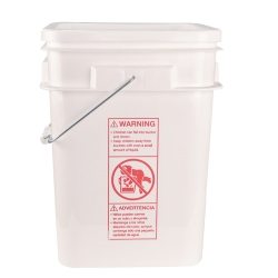 4 & 5 Gallon High Density Polyethylene Square Pails