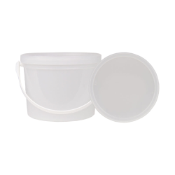 50 oz. White Dairy Pail with Handle (Lid Sold Separately)