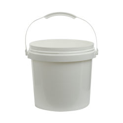 White 2 Gallon SmartPak® Medium Duty HDPE Bucket