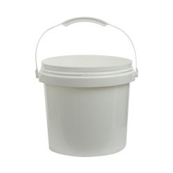 White 2 Gallon SmartPak® Medium Duty HDPE Bucket