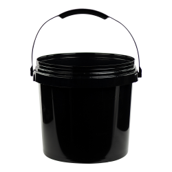 Black 2 Gallon SmartPak® Medium Duty HDPE Bucket