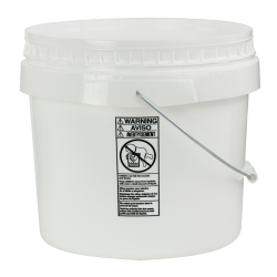 White 3-1/2 Gallon SmartPak® Medium Duty HDPE Bucket