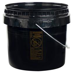 Black 3-1/2 Gallon SmartPak® Medium Duty HDPE Bucket