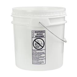White 4-1/2 Gallon SmartPak® Medium Duty HDPE Bucket