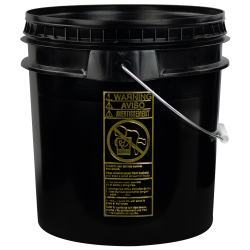 Black 4-1/2 Gallon SmartPak® Medium Duty HDPE Bucket