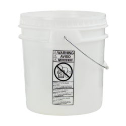 Natural 4-1/2 Gallon SmartPak® Medium Duty HDPE Bucket
