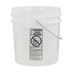 Natural 4-1/2 Gallon SmartPak® Medium Duty HDPE Bucket