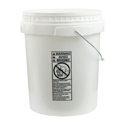 White 5 Gallon SmartPak® Medium Duty HDPE Bucket