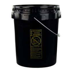 Black 5 Gallon SmartPak® Medium Duty HDPE Bucket