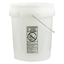 Natural 5 Gallon SmartPak® Medium Duty HDPE Bucket