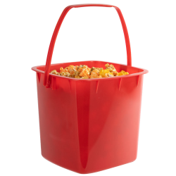 80 oz. Red HDPE Deli Tub with Handle (Lid sold separetely)