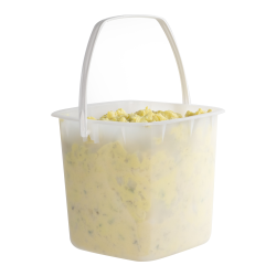 80 oz. Natural HDPE Deli Tub with White Handle (Lid sold separetely)