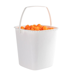 160 oz. White HDPE Deli Tub with Handle (Lid sold separetely)