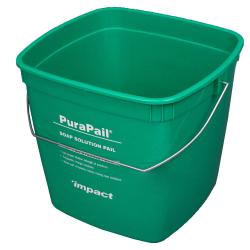 6 Quart Green PuraPail™ Utility Pail - Soap Solution Imprint
