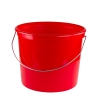 5 Qt. Heavy Duty Plastic Grid Reinforced HDPE Red Pail