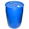 "55 Gallon Closed Top Blue Poly Drum with 2"" NPS & 2"" Buttress Bungs"