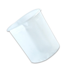 "5 Gallon LDPE Pail Insert with 2.7° Taper - 11.25"" Dia. x 14"" H"