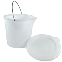 3 Gallon White HDPE Pail with Cover