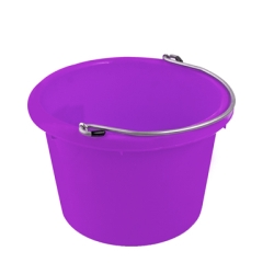 Bright Molded Rubber-Polyethylene Purple 8 Quart Pail