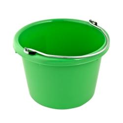 Mango Green Molded Rubber-Polyethylene 8 Quart Pail
