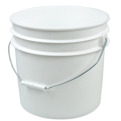 White 3-1/2 Gallon Bucket