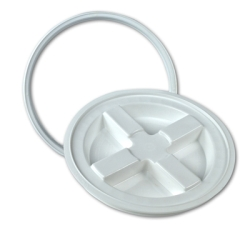 White Gamma Seal® Lid for 3.5 to 7 Gallon Pail
